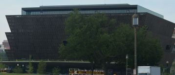 New African American Museum on Constitution Ave. between Washinton mMonument and American History Museum