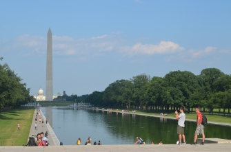 The Reflecting Pool (from the Lincoln Memorial)