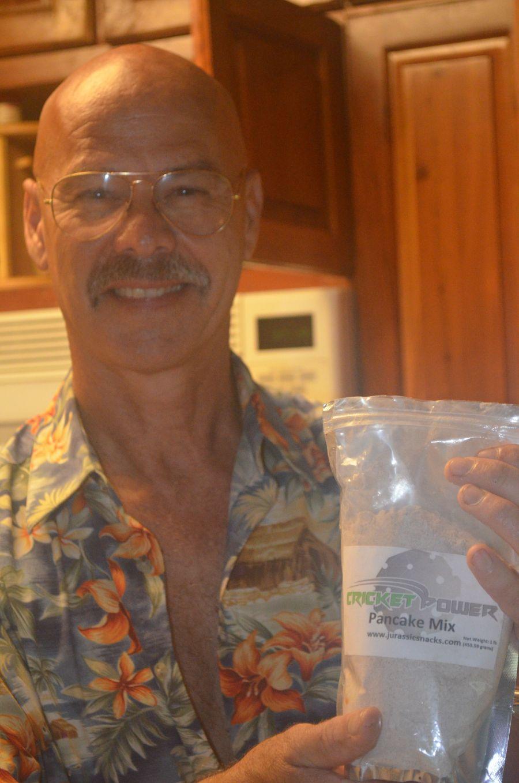 Chef Steve with the Aspire Cricket flour